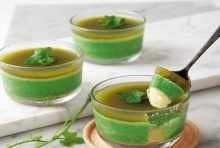 มูสเค้กตำลึงชาเขียว