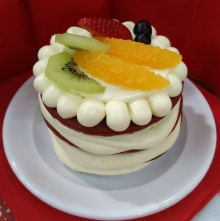 Red Velvet Cream Cheese Pancake