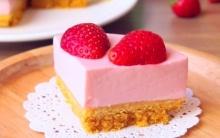 เค้กโยเกิร์ตสตรอว์เบอร์รี สูตรง่ายๆไม่ง้อเตาอบ!!!
