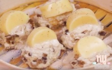 อกไก่สับห่อเต้าหู้ไข่
