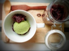 ไอศครีมชาเขียวถั่วแดง