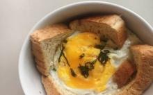 ไข่ขนมปังไมโครเวฟ อาหารเช้าง่ายๆ
