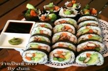 ซูชิโฮมเมด ไม่ง้อข้าวญี่ปุ่น!!