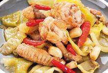 เมนูอาหารง่ายๆ วิธีทำปีกไก่ ผัดเกี้ยมฉ่าย อร่อย ผักกาดดองกรอบๆ