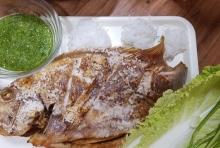 ปลาทับทิมเผา**อบลมร้อน**