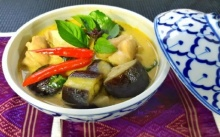 แกงเขียวหวานใส่มะเขือม่วง (อาหารไทยง่ายๆ)