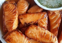 แซลมอนทอดราดน้ำปลา เมนูไทยๆแต่ใช้ปลานอก!!