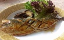 ปลาซาบะย่างซีอิ๊ว